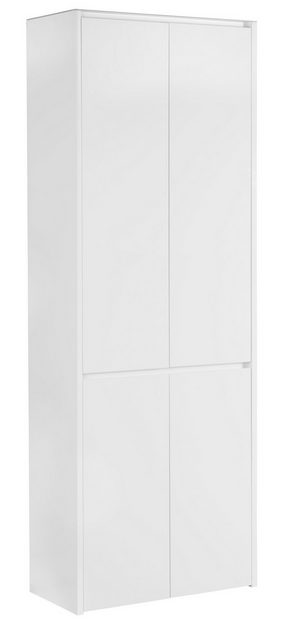 GARDEROB - vit, Design, glas/träbaserade material (68/188,4/34,1cm) - Voleo