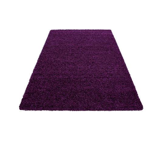 HOCHFLORTEPPICH - Lila, KONVENTIONELL, Textil (65/130cm) - Novel