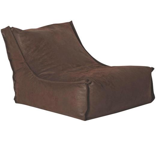 SITZSACK in Textil Braun - Braun, Design, Textil (110/80/70cm)