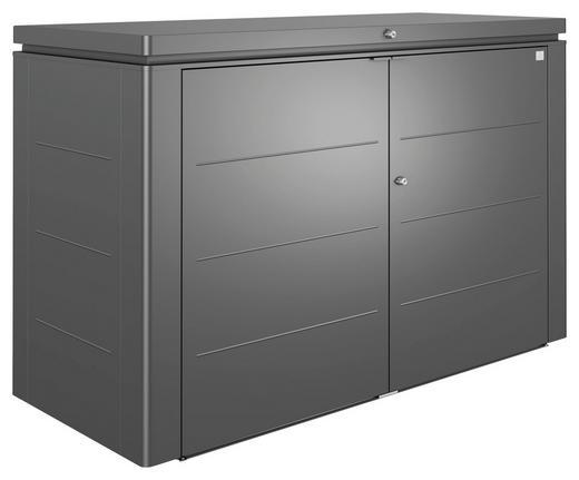 KISSENBOX - Dunkelgrau, Design, Metall (200/127/84cm) - Biohort