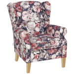 OHRENSESSEL in Textil Multicolor  - Multicolor, Design, Holz/Textil (83/102/87cm) - Carryhome