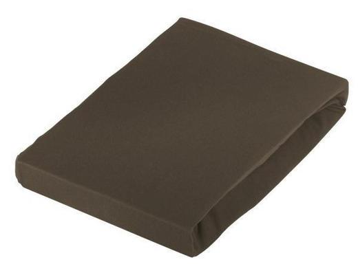 TOPPER-SPANNLEINTUCH - Braun, Basics, Textil (100/220cm) - Novel