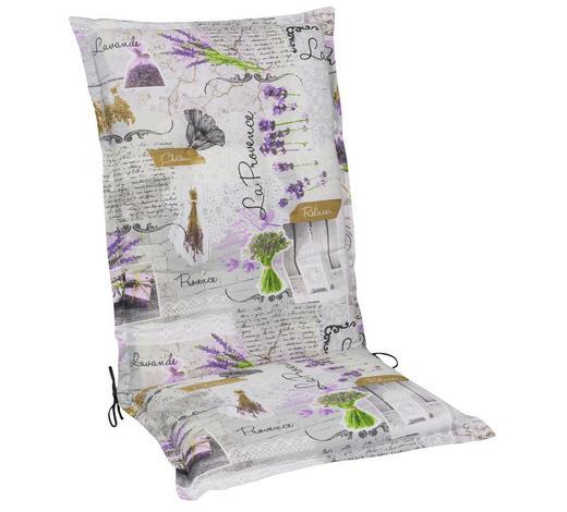 SESSELAUFLAGE Floral - Multicolor, LIFESTYLE, Textil (50/120/9cm)