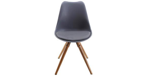 STUHL in Kunststoff, Textil Grau, Naturfarben - Naturfarben/Grau, Design, Holz/Kunststoff (48,5/85/55cm) - Xora