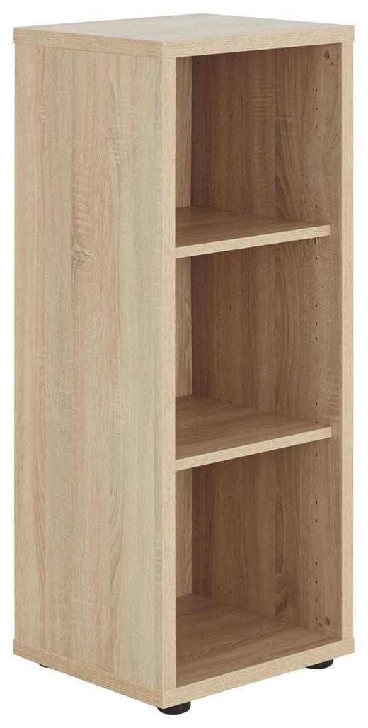 AKTENREGAL Sonoma Eiche - Schwarz/Sonoma Eiche, Design, Holzwerkstoff/Kunststoff (43,9/110,5/40cm) - Voleo