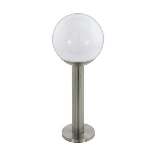 AUßENSTEHLEUCHTE Weiß - Edelstahlfarben/Weiß, KONVENTIONELL, Kunststoff/Metall (20/52,5cm)