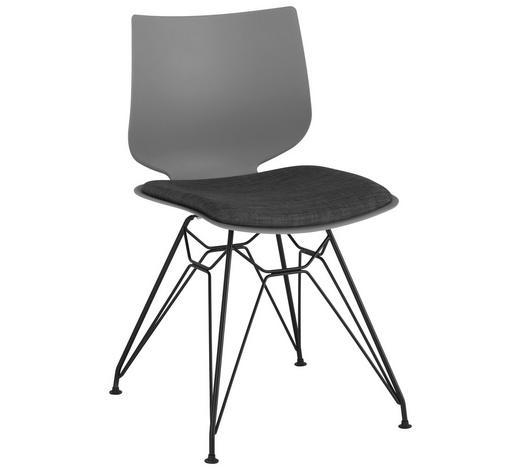 STUHL in Metall, Kunststoff, Textil Anthrazit, Grau, Schwarz - Anthrazit/Schwarz, Design, Kunststoff/Textil (49/83/51cm) - Lomoco