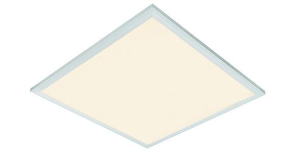 Led Deckenleuchte Varena 45x45 cm Dimmbar - Silberfarben/Weiß, MODERN, Metall (45/45cm) - Luca Bessoni