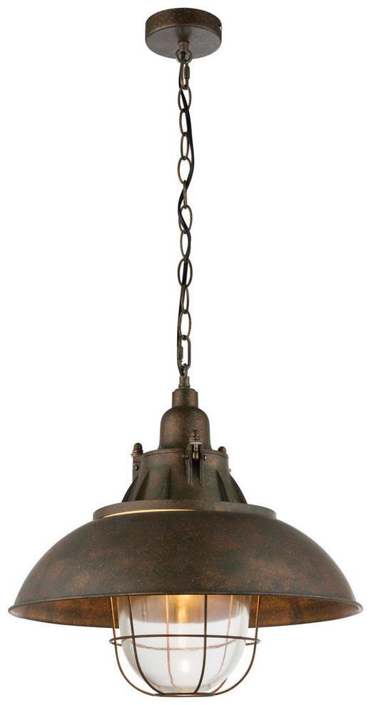 HÄNGELEUCHTE - Rostfarben, LIFESTYLE, Glas/Metall (40,5/141cm)