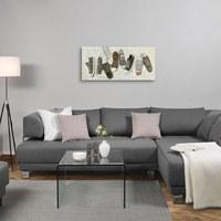 OLJEMÅLNING - multicolor/naturfärgad, Lifestyle, trä/textil (120/55cm) - Monee