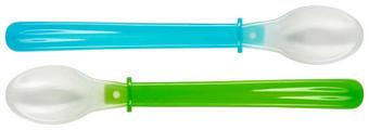 LŽÍCE DĚTSKÁ - modrá/zelená, Basics, umělá hmota (22cm) - My Baby Lou