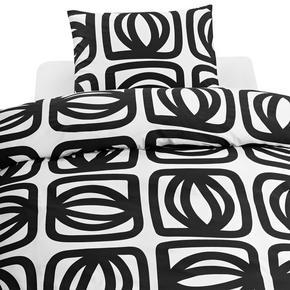 PÅSLAKANSET - vit/svart, Basics, textil (150/210cm)
