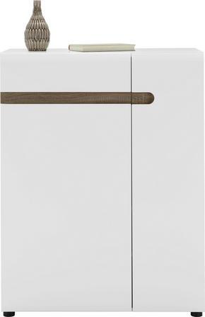 SKOSKÅP - vit/alfärgad, Design, träbaserade material (85/111/42cm)