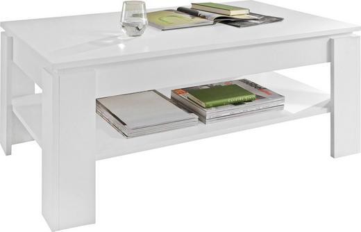 COUCHTISCH rechteckig Weiß - Weiß, Design, Holzwerkstoff (110/65/47cm) - Carryhome