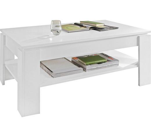 COUCHTISCH in Holzwerkstoff 110/65/47 cm - Weiß, Design, Holzwerkstoff (110/65/47cm) - Carryhome
