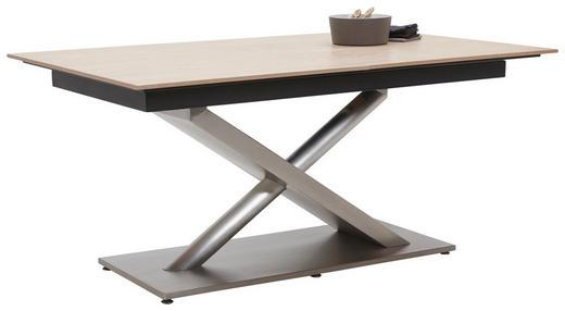 ESSTISCH in Holz, Metall 180(240)/100/77 cm - Edelstahlfarben/Eichefarben, Design, Holz/Metall (180(240)/100/77cm) - Dieter Knoll