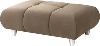 HOCKER in Textil Beige - Chromfarben/Beige, Design, Kunststoff/Textil (125/40/75cm) - Hom`in