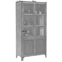 VITRINE in Grau - Grau/Nickelfarben, Trend, Glas/Metall (90/180/45cm) - Ambia Home