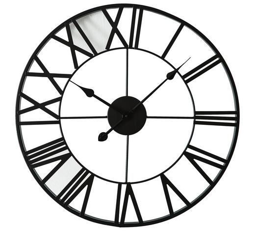 WANDUHR  Schwarz 60 cm - Schwarz, Basics, Metall (60cm) - Ambia Home