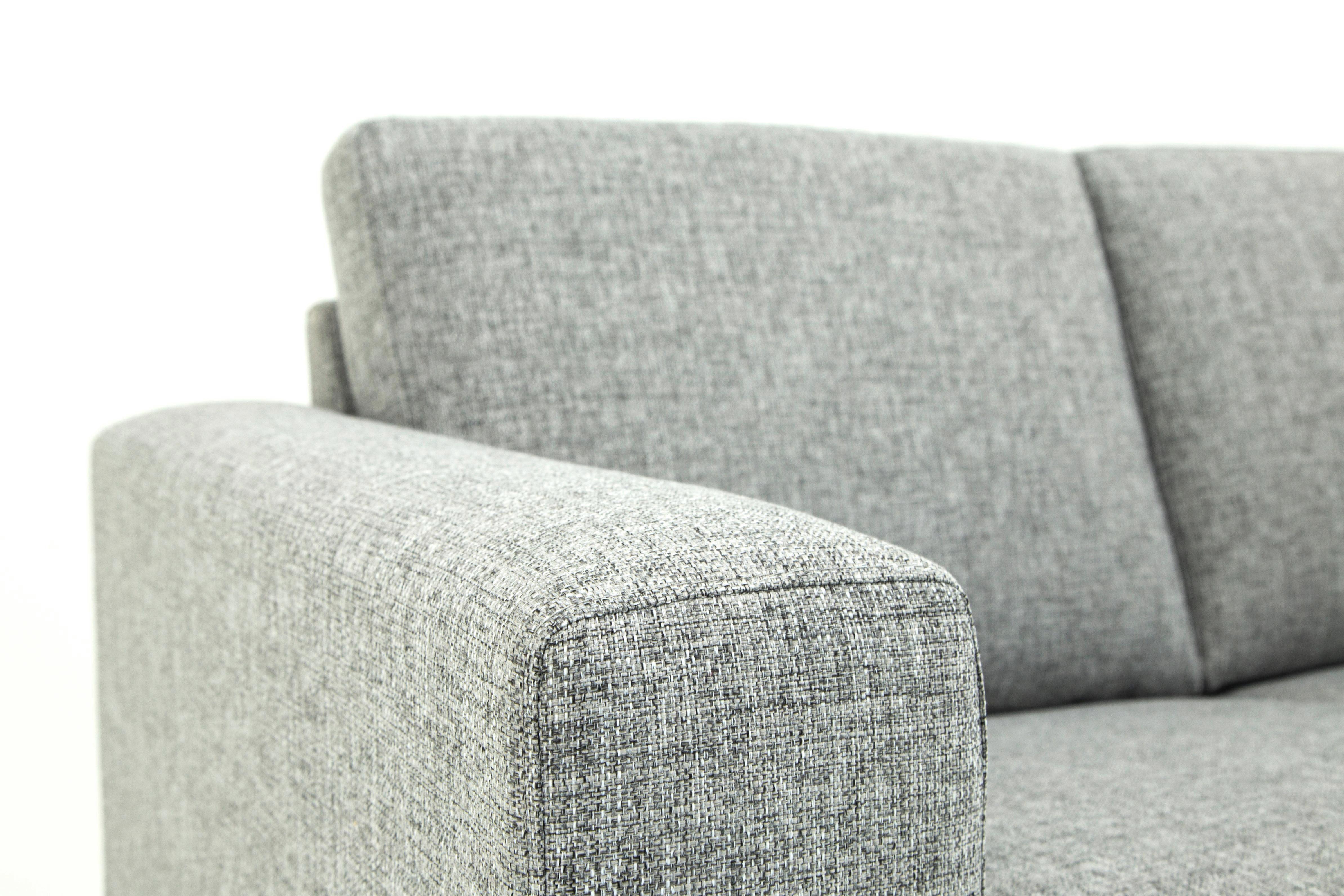 SOFFA - svart/grå, Design, trä/textil (214/86/84cm) - Welnova