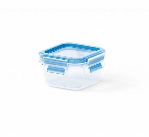 FÖRVARINGSBURK, 0,25L - blå/transparent, Basics, plast - EMSA