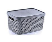 AUFBEWAHRUNGSBOX    27,7/22,4/15,1 cm  - Dunkelgrau, Basics, Kunststoff (27,7/22,4/15,1cm) - Homeware