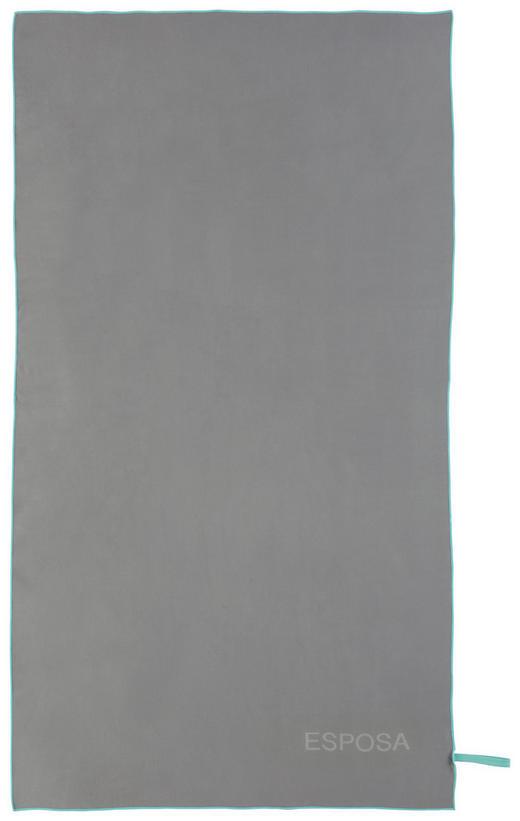 STRANDTUCH 100/180 cm - Anthrazit/Petrol, KONVENTIONELL, Textil (100/180cm) - Esposa