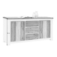 KOMODA - bijela/boje bagrema, Lifestyle, drvni materijal/metal (180/85/45cm) - LANDSCAPE