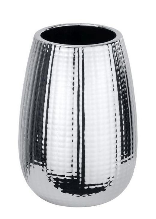 ZAHNPUTZBECHER - Chromfarben, Basics, Keramik (8,3/11,6cm)