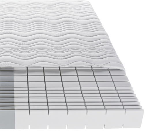 KOMFORTSCHAUMMATRATZE 180/200 cm - Weiß, Basics, Textil (180/200cm) - Sleeptex