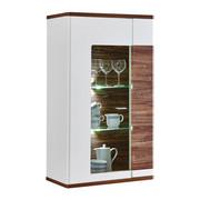 ZÁVĚSNÁ VITRÍNA, bílá, barvy dubu - bílá/barvy dubu, Konvenční, kov/kompozitní dřevo (70/120/38cm) - Xora