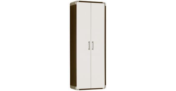 GARDEROBENSCHRANK 60/164/32 cm  - Wengefarben/Weiß, Design, Holzwerkstoff (60/164/32cm) - Moderano