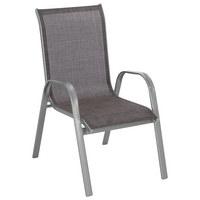 STAPELSESSEL Aluminium, Stahl Hellbraun, Silberfarben - Hellbraun/Silberfarben, Design, Textil/Metall (55/96/72cm) - Xora
