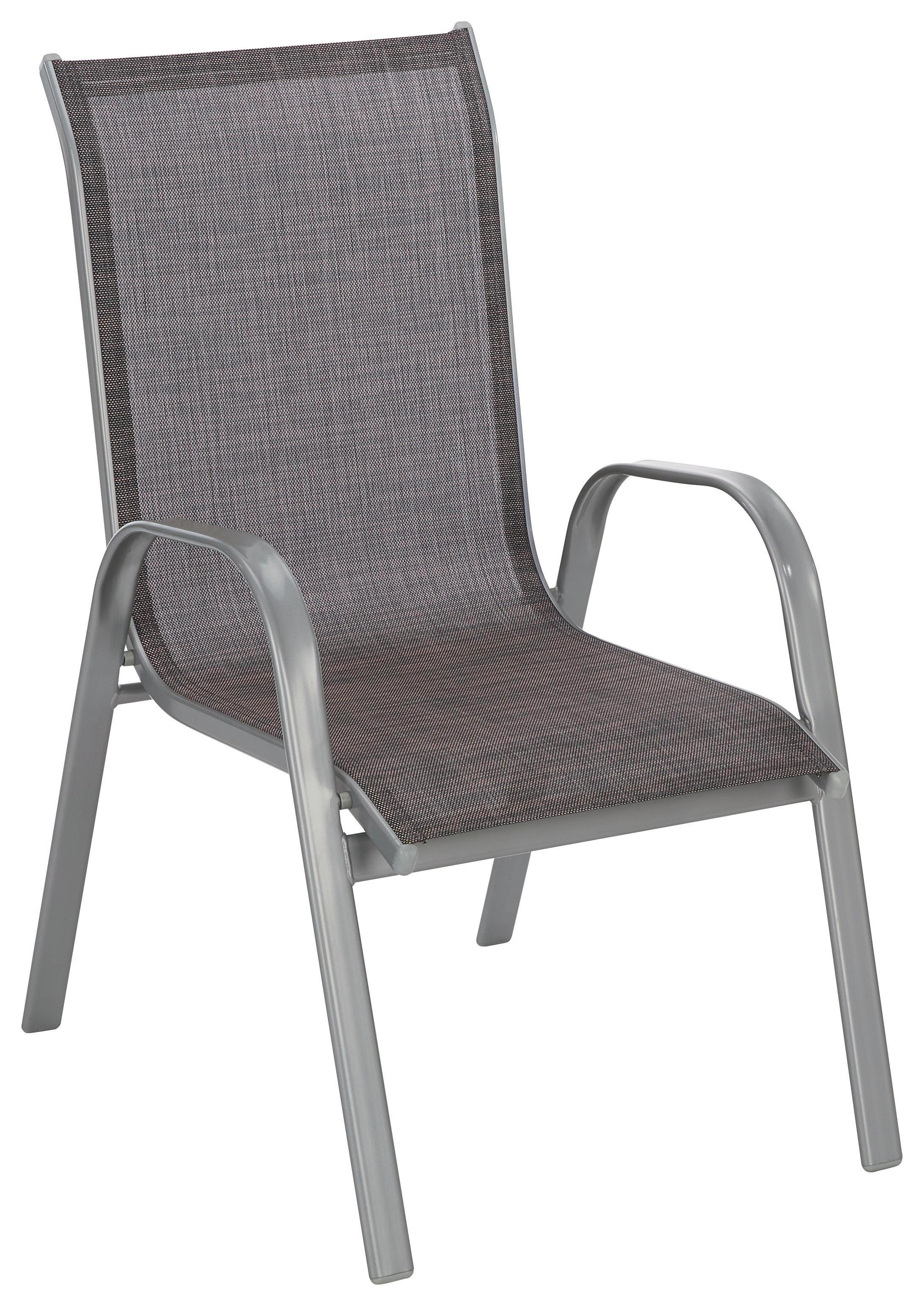 STAPELSESSEL Aluminium, Stahl Hellbraun, Silberfarben    Hellbraun/Silberfarben, Design, Textil/