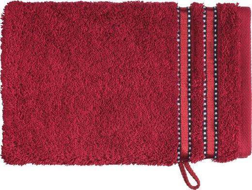 WASCHHANDSCHUH - Dunkelrot, Basics, Textil (16/22cm) - VOSSEN