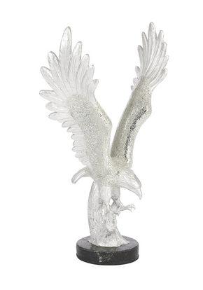 DEKORATIONSFÅGEL - silver/svart, Design, glas (58/33,3/88,7cm) - Ambia Home