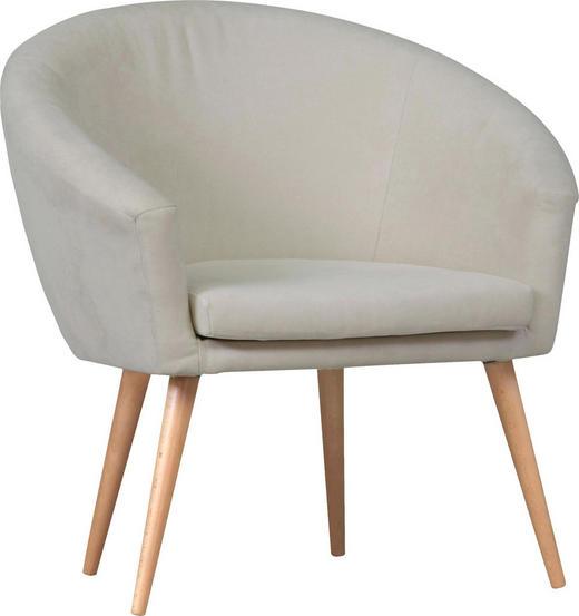 SESSEL in Beige Textil - Beige/Naturfarben, Design, Holz/Textil (73/73/66cm) - Carryhome