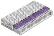 TASCHENFEDERKERNMATRATZE 90/200 cm  - Anthrazit/Weiß, Basics, Textil (90/200cm) - Sleeptex