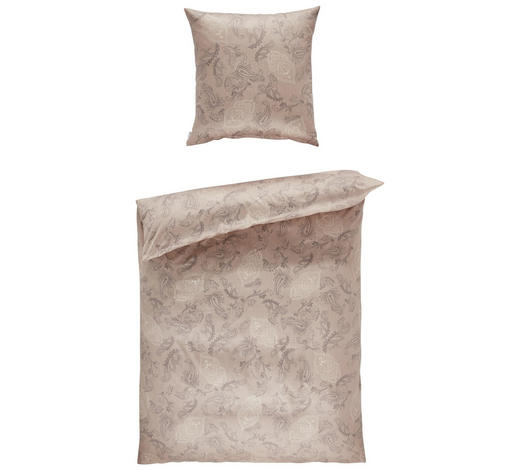 BETTWÄSCHE Makosatin Hellbraun 135/200 cm  - Hellbraun, Basics, Textil (135/200cm) - Estella