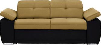 SCHLAFSOFA in Textil Gelb, Schwarz - Chromfarben/Gelb, KONVENTIONELL, Textil (206/82/101cm) - Venda