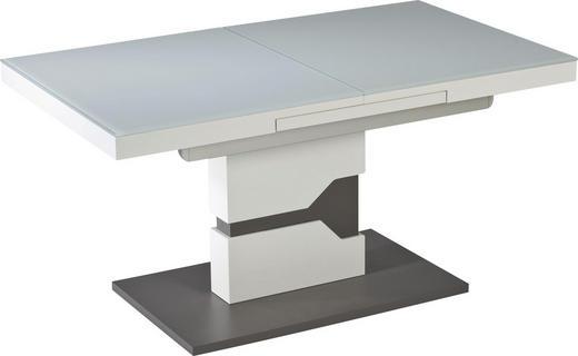 COUCHTISCH rechteckig Grau, Weiß - Weiß/Grau, Design, Glas/Holzwerkstoff (110-150/65/57-76cm) - Novel