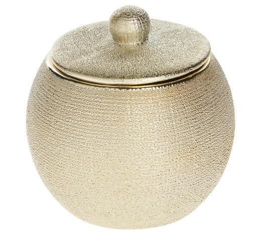 KOSMETIKDOSE Keramik - Goldfarben, Basics, Keramik (9,3/9,7cm) - Sadena