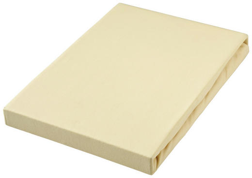 BOXSPRING-SPANNLEINTUCH - Hellgelb, Basics, Textil (180-200/220cm) - Novel
