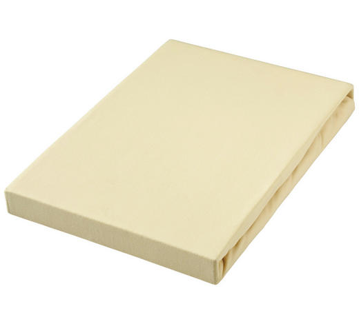 BOXSPRING-SPANNLEINTUCH - Hellgelb, Basics, Textil (140/200cm) - Novel