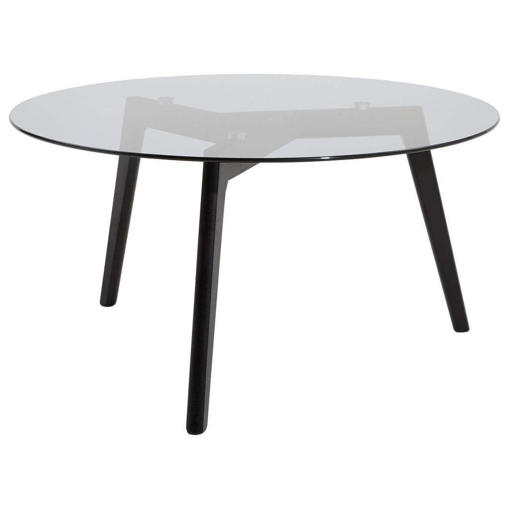 Carryhome KONFERENČNÍ STOLEK, šedá, černá, dřevo, sklo, 90/90/45 cm - šedá, černá