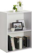 REGAL in 60 76,8 32 cm Weiß - Schwarz/Weiß, Design, Holzwerkstoff/Kunststoff (60/76,8/32cm) - Carryhome