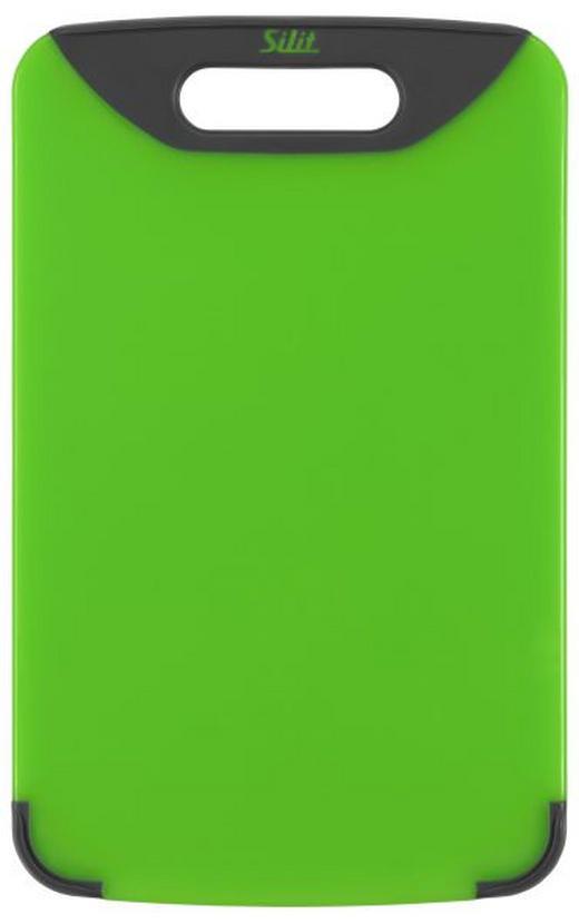 SCHNEIDBRETT 38 X 25 Kunststoff - Grün, Basics, Kunststoff (25/38cm) - Silit