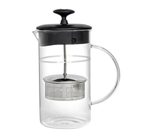 TEESET 0,8 l - Edelstahlfarben/Transparent, Basics, Glas/Kunststoff (0,8l) - Leonardo