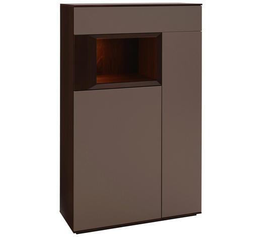 HIGHBOARD 90/145/37 cm  - Titanfarben/Nussbaumfarben, Design, Holz/Holzwerkstoff (90/145/37cm) - Dieter Knoll