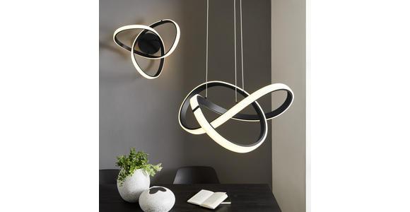 LED-DECKENLEUCHTE 49 W     - Schwarz, Design, Kunststoff/Metall (59/29/59cm) - Ambiente